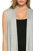Draped Open Front Jersey Knit Vest - BodiLove | 30% Off First Order  - 27