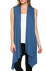 Draped Open Front Jersey Knit Vest - BodiLove | 30% Off First Order  - 28