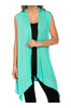 Draped Open Front Jersey Knit Vest - BodiLove | 30% Off First Order  - 34
