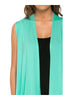 Draped Open Front Jersey Knit Vest - BodiLove | 30% Off First Order  - 37