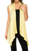 Draped Open Front Jersey Knit Vest - BodiLove | 30% Off First Order  - 45