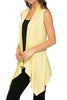 Draped Open Front Jersey Knit Vest - BodiLove | 30% Off First Order  - 47