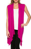 Draped Open Front Jersey Knit Vest - BodiLove | 30% Off First Order  - 48