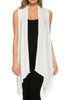 Draped Open Front Jersey Knit Vest - BodiLove | 30% Off First Order  - 51