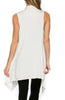 Draped Open Front Jersey Knit Vest - BodiLove | 30% Off First Order  - 52