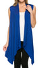 Draped Open Front Jersey Knit Vest - BodiLove | 30% Off First Order  - 54