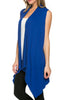 Draped Open Front Jersey Knit Vest - BodiLove | 30% Off First Order  - 56