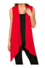 Draped Open Front Jersey Knit Vest - BodiLove | 30% Off First Order  - 57