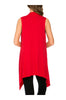 Draped Open Front Jersey Knit Vest - BodiLove | 30% Off First Order  - 58