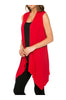 Draped Open Front Jersey Knit Vest - BodiLove | 30% Off First Order  - 59