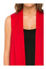 Draped Open Front Jersey Knit Vest - BodiLove | 30% Off First Order  - 60