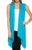 Draped Open Front Jersey Knit Vest - BodiLove | 30% Off First Order  - 61
