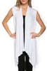 Draped Open Front Jersey Knit Vest - BodiLove | 30% Off First Order  - 64