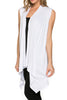 Draped Open Front Jersey Knit Vest - BodiLove | 30% Off First Order  - 66