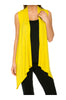 Draped Open Front Jersey Knit Vest - BodiLove | 30% Off First Order  - 68