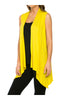 Draped Open Front Jersey Knit Vest - BodiLove | 30% Off First Order  - 70