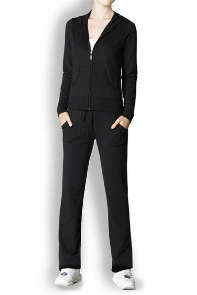 French Terry Active Wear Set With Hooded Jacket - BodiLove | 30% Off First Order  - 1