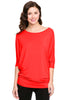 3/4 Batwing Dolman Sleeve Tunic - BodiLove | 30% Off First Order  - 34