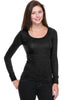 Hacci Scoop Neck Long Sleeve Top - BodiLove | 30% Off First Order  - 1