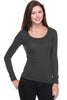 Hacci Scoop Neck Long Sleeve Top - BodiLove | 30% Off First Order  - 4