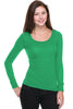Hacci Scoop Neck Long Sleeve Top - BodiLove | 30% Off First Order  - 7