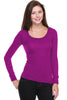 Hacci Scoop Neck Long Sleeve Top - BodiLove | 30% Off First Order  - 10