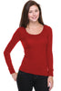 Hacci Scoop Neck Long Sleeve Top - BodiLove | 30% Off First Order  - 22