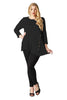 Asymmetrical Hem Button Front Tunic Top | 30% Off First Order | Black