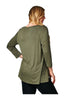 6 Button Detail Tulip Hem Long Sleeve Tunic Top | 30% Off First Order | Black