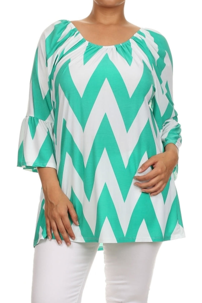 3/4 Kimono Sleeve Tunic Top - BodiLove | 30% Off First Order  - 25