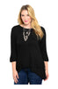 3/4 Sleeve Hi-Low Knit Tunic Top - BodiLove | 30% Off First Order  - 1