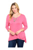 3/4 Sleeve Hi-Low Knit Tunic Top - BodiLove | 30% Off First Order  - 5