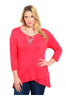 3/4 Sleeve Hi-Low Knit Tunic Top - BodiLove | 30% Off First Order  - 7