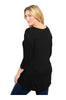 3/4 Sleeve Hi-Low Knit Tunic Top - BodiLove | 30% Off First Order  - 2