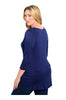 3/4 Sleeve Hi-Low Knit Tunic Top - BodiLove | 30% Off First Order  - 4