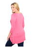3/4 Sleeve Hi-Low Knit Tunic Top - BodiLove | 30% Off First Order  - 6