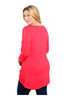 3/4 Sleeve Hi-Low Knit Tunic Top - BodiLove | 30% Off First Order  - 8