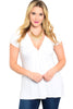 Dressy Cap Sleeve V-Neck Hi Low Knit Top - BodiLove | 30% Off First Order | White