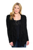 Lace Open Drape Plus Size Cardigan - BodiLove | 30% Off First Order  - 1