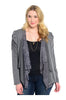 Lace Open Drape Plus Size Cardigan - BodiLove | 30% Off First Order  - 7