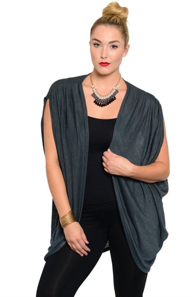 Open Front Sleeveless Cocoon Cardigan - BodiLove | 30% Off First Order  - 3