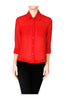 Long Sleeve Collared Blouse W/ Back Button Detail - BodiLove | 30% Off First Order  - 22