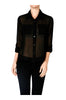 Long Sleeve Collared Blouse W/ Back Button Detail - BodiLove | 30% Off First Order  - 1