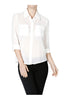 Long Sleeve Collared Blouse W/ Back Button Detail - BodiLove | 30% Off First Order  - 17