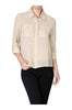 Long Sleeve Collared Blouse W/ Back Button Detail - BodiLove | 30% Off First Order  - 2