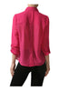 Long Sleeve Collared Blouse W/ Back Button Detail - BodiLove | 30% Off First Order  - 10