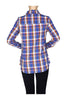 Fitted Plaid Button Down Shirt W/ Studded Pockets - BodiLove | 30% Off First Order  - 2