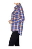 Fitted Plaid Button Down Shirt W/ Studded Pockets - BodiLove | 30% Off First Order  - 3