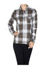 Fitted Plaid Button Down Shirt W/ Studded Pockets - BodiLove | 30% Off First Order  - 5