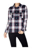 Fitted Plaid Button Down Shirt W/ Studded Pockets - BodiLove | 30% Off First Order  - 8